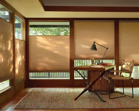 duette honeycomb shades craftsman home office - Premier Window Coverings