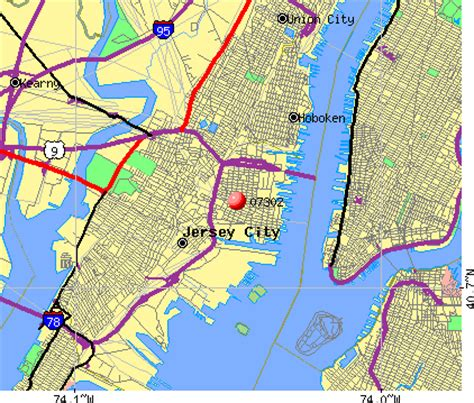 Zip Code Map Jersey City | map of new jersey towns by zip code pictures to pin on