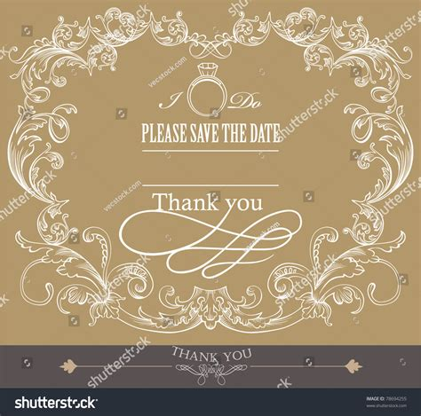 Marriage Invitation Cover by Card Cover Design Wedding Invitation Card Stock Vector