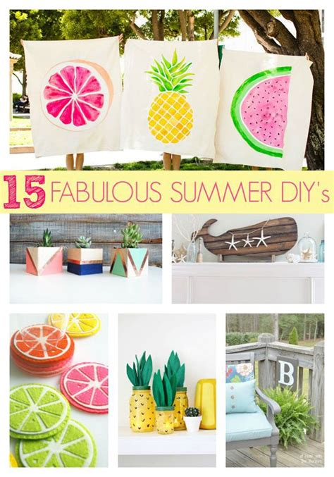 diy crafts for home decor fabulous summer crafts decor 15 fabulous summer diy projects pretty my party easy