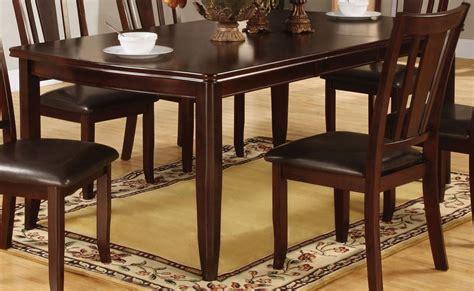 espresso dining room furniture edgewood i espresso rectangular extendable leg dining room