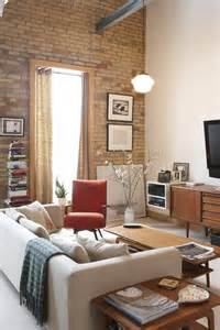 pictures for living room walls 59 cool living rooms with brick walls digsdigs