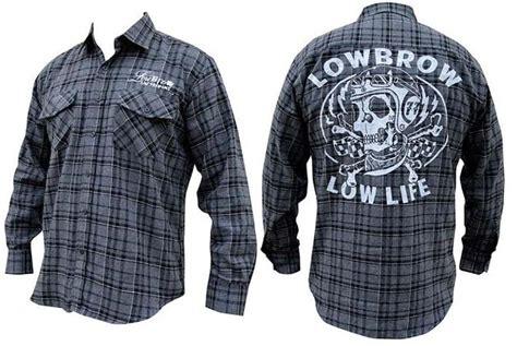 Id 1245 Studs Plaid Shirt low guys button up flannel black grey plaid shirt by