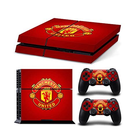 Dijamin Ps4 Skin Manchester United sony playstation 4 skin decal sticker set manchester