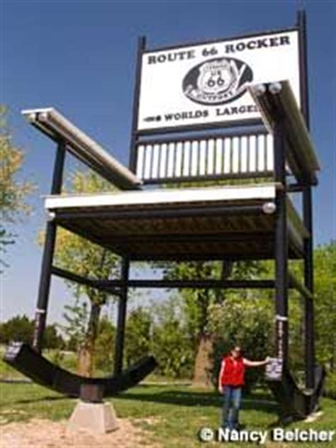 Worlds Largest Rocking Chair by Rt 66 Historic Icons On 50 Pins