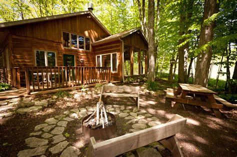 Cottage Retreat Door County by Lincoln The Firepit Is Surrounded By Woods And A Peaceful