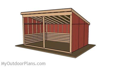 run  shed roof plans myoutdoorplans