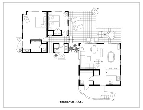 vacation house floor plans beach house