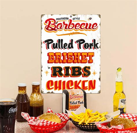 how to decorate with bbq signs and wall decals