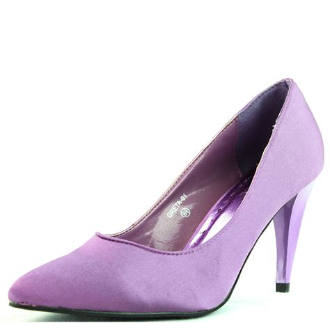 lilac shoes lilac purple satin almond toe pumps pointed toe high heels