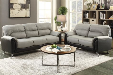 grey sofa and loveseat sets hercules grey leather sofa and loveseat set steal a sofa