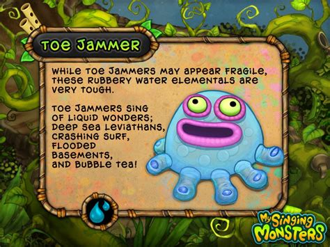 my singing monsters big blue big blue bubble inc toe jammer my singing monsters big blue bubble cake