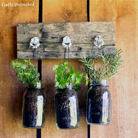 Diy herb jar hanging garden the creative corner 94 diy craft amp home decor link party the