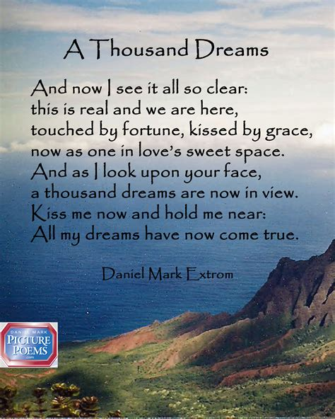 A Love Poem A Thousand Dreams Daniel Mark Picture Poems My College Dreams Are Finally Coming True And I Graduated Two Decades Ago