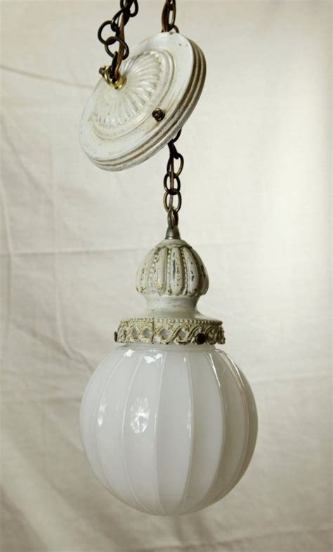 Shabby Chic Pendant Lighting Cottage Chic Swag Pendant Light Milk Glass L Shabby Antiques And Cottage Chic