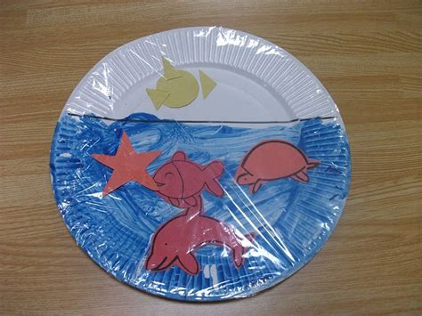 Paper Plate Preschool Crafts - easy sea paper plate craft preschool education for
