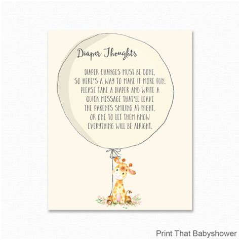 Baby Shower Thoughts by Baby Shower Thoughts Giraffe Baby Shower