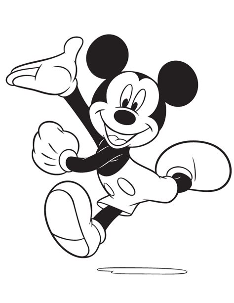 Mickey mouse coloring pages free printable coloring pages