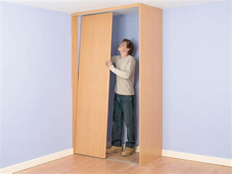 How To Hang A Closet Door How To Build A Closet Into The Corner Of A Room How Tos Diy