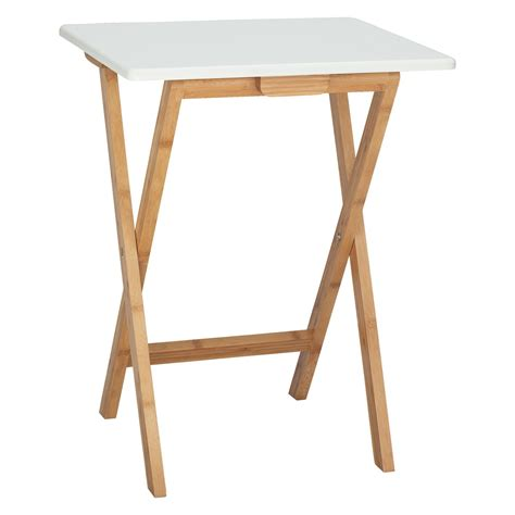 DREW Bamboo and white lacquer folding side table   Buy now at Habitat UK