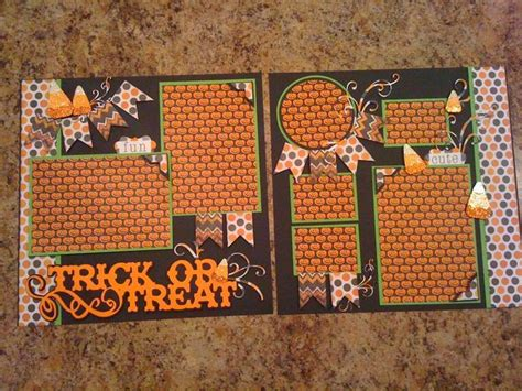 scrapbook layout ideas for halloween trick or treat by mazzybear cards and paper crafts at