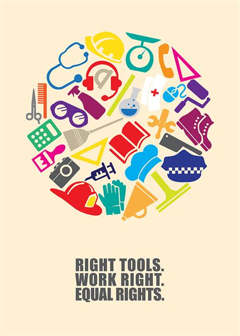 poster design educational institute work right poster project on behance