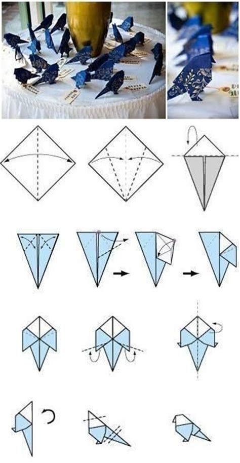how to fold an origami bird crafts