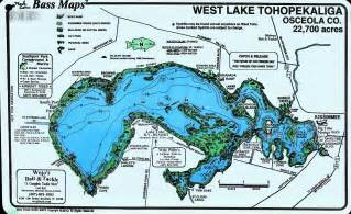 fishing map of florida about lake tohopekaliga lake toho florida fishing