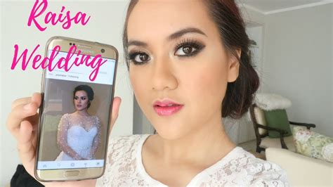 tutorial makeup alifah ratu raisa wedding makeup tutorial on acne face with smokey