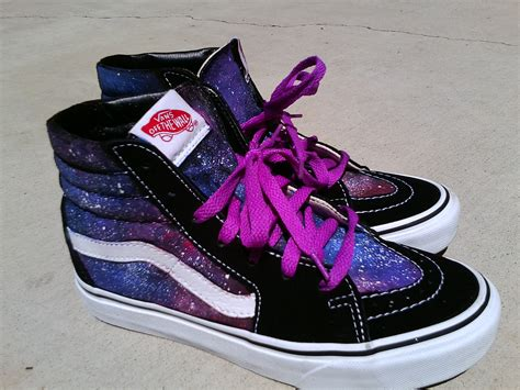 galaxy vans sk8 hi tops by xheraldxofxhopex on deviantart