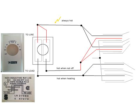 breaker single pole thermostat wiring diagram