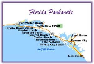 map of florida gulf coast panhandle vacation in the sun florida panhandle and disney