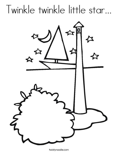 Twinkle Twinkle Little Star Coloring Page Twisty Noodle Twinkle Twinkle Coloring Page