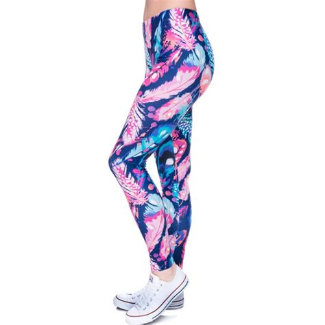 colorful workout colorful feathers s printed workout
