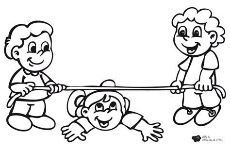 dibujos de niños jugando juegos tradicionales juegos populares barra altura dibujalia dibujos para