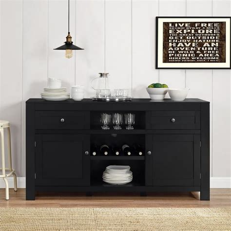 black dining room buffet altra furniture hadley black buffet with wine storage