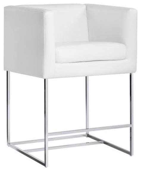 White Leather Counter Height Stools Sleek Leather Stool White Nobility Counter Height Bar