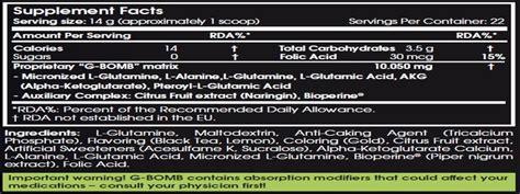 g bomb supplement scitec g bomb la matrice de glutamines multi composants