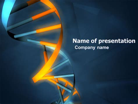 Genes In Dna Presentation Template For Powerpoint And Keynote Ppt Star Dna Powerpoint Template