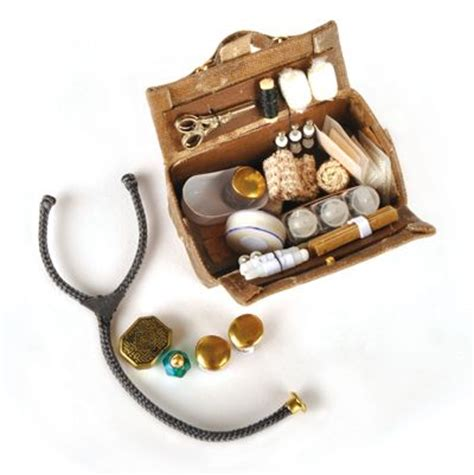 miniature dollhouse diy medicine bag inc contents