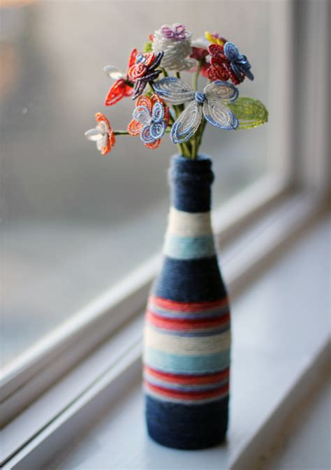 Make A L Out Of A Vase by Diy How To Make A Yarn Wrapped Bottle Vase Catch