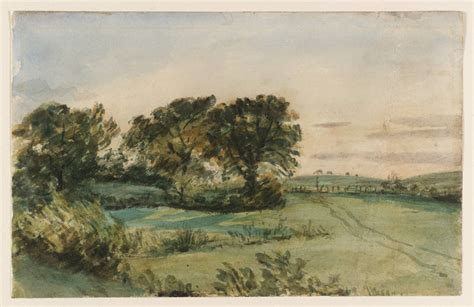 Landscape Artists Constable Landscape Trees And Verso Four Studies Of