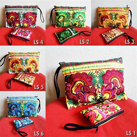 Handmade Ls - 2 bag set clutch small zipper pouch coin purse