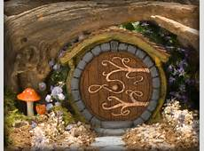 Brown Hobbit/ Fairy Door by HiddenWorlds on Etsy