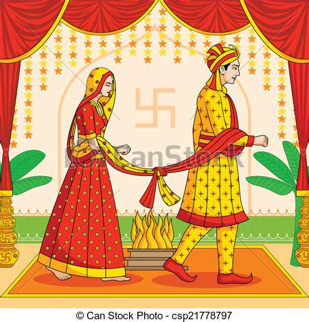 Marathi Lines For Wedding Album by Eps Vectors Of And Groom In Indian Hindu Wedding In