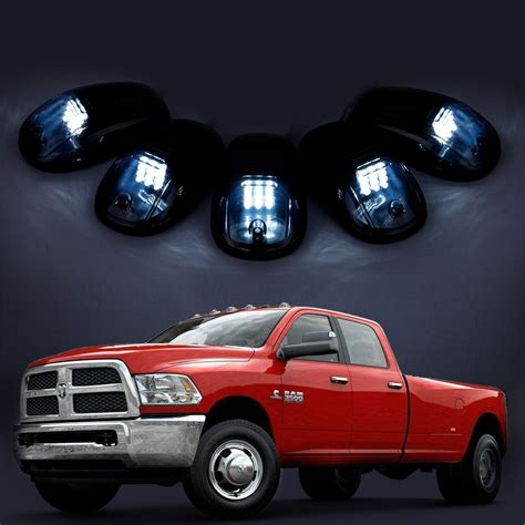 1Set Smoke White 12 LED Cab Clearance Marker Lights fits