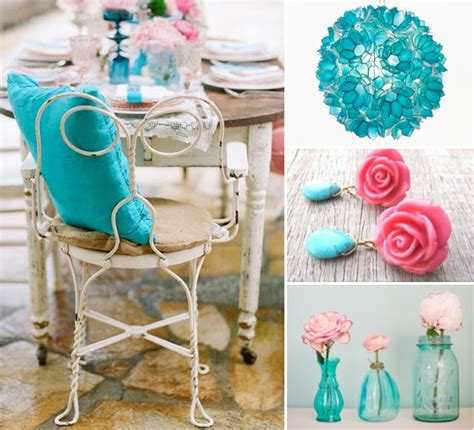 Turquoise And Pink Wedding Decorations by Pink And Turquoise Wedding Theme Weddings By Lilly