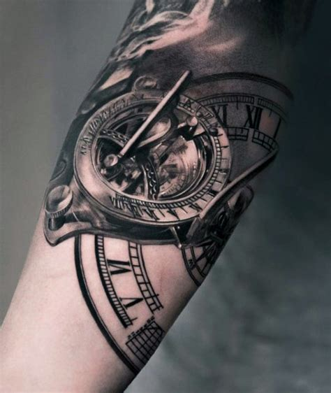 melting clock tattoo 80 clock designs for timeless ink ideas