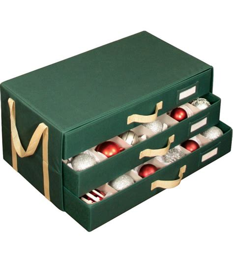 christmas ornament storage chest in ornament storage boxes