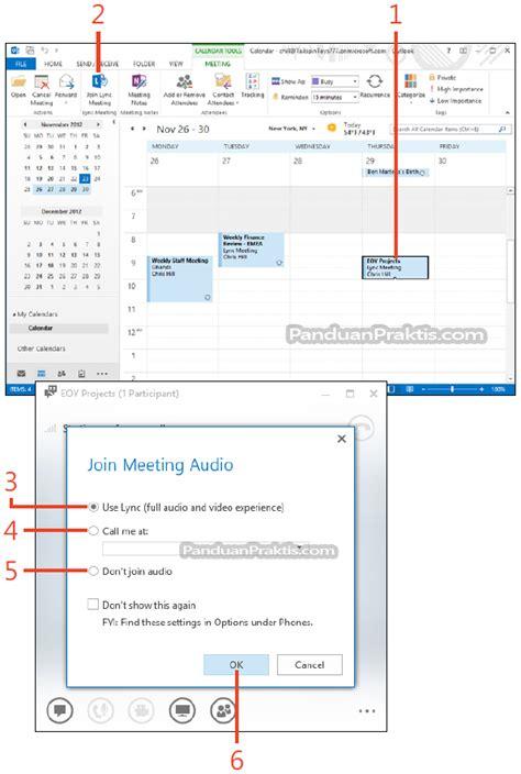 cara membuat undangan meeting di outlook cara membuat dan bergabung dengan meeting lync menggunakan